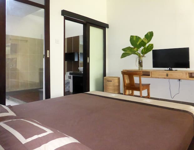 Studio A (50m2, downstairs, access to Lounge)