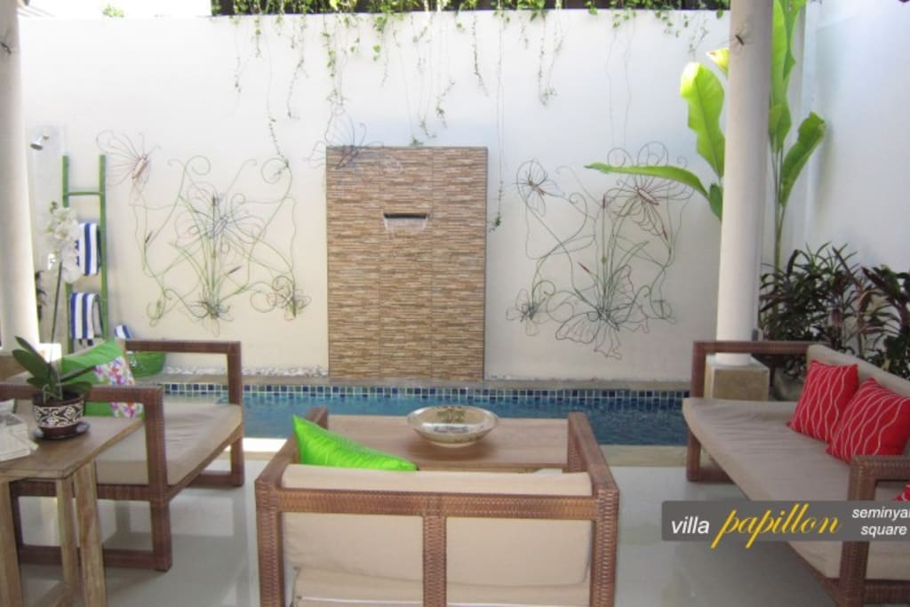 Cool off in the beautiful plunge pool located just next to the living area
