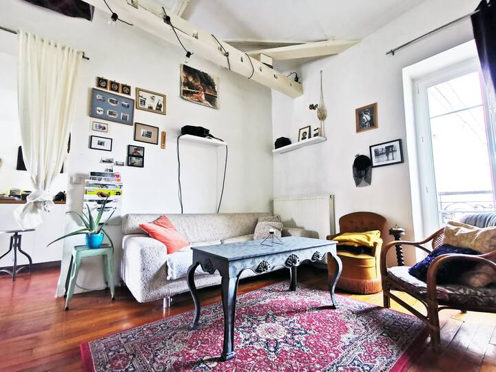 Charming vintage loft in Oberkampf/Le Marais
