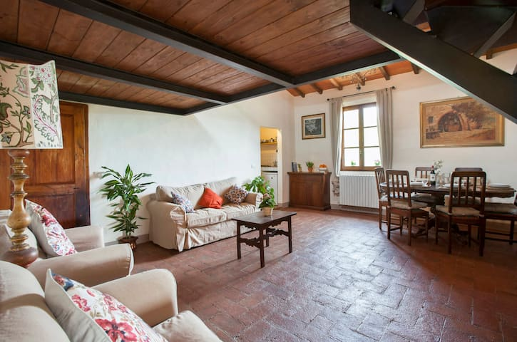 Chianti apartment with pool - Montefiridolfi - Apartamento
