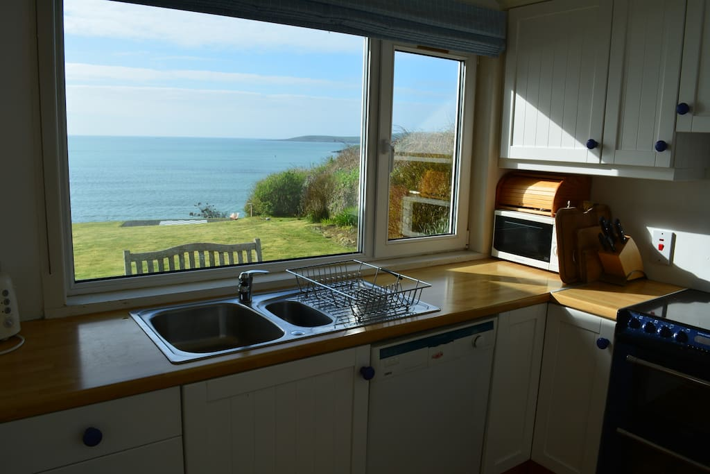view of Atlantic from the kitchen