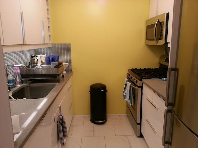 Kitchen.  Let me know before your arrival if you plan to cook at all. Thank you!