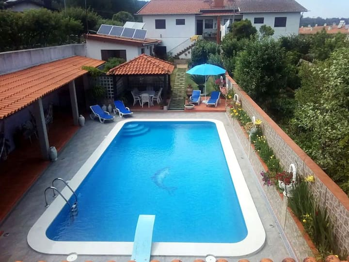 Villa with 2 bedrooms in Oliveira de Azeméis, with private pool, furnished terrace and WiFi - 20 km from the beach