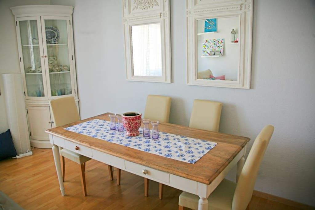 Dining table for entertaining or work