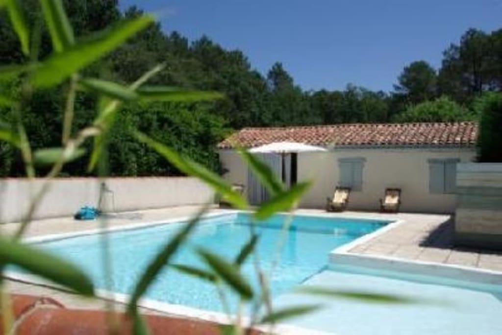 Petite maison avec sa piscine maisons louer lue for Petite maison avec piscine
