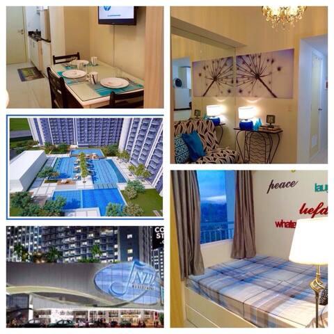 Cozy 1BR  condo, 3 guests in Makati - Ciudad de Makati - Apto. en complejo residencial