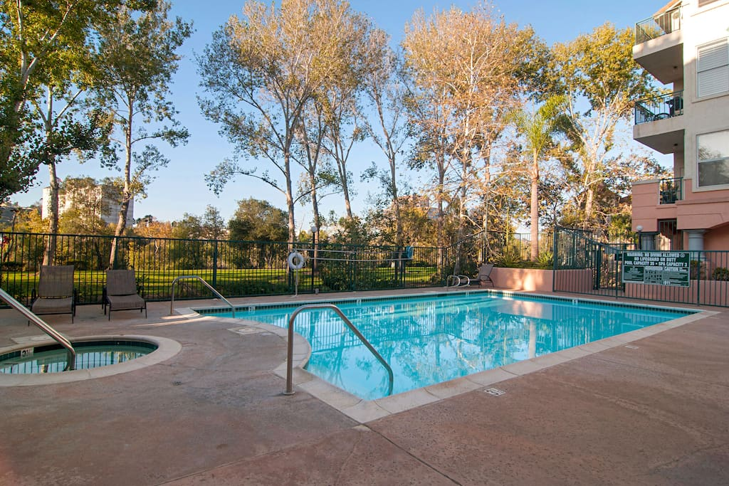 Relax poolside and enjoy the amenities of our gated community