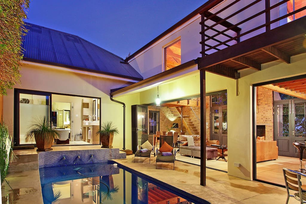 Pool and living area