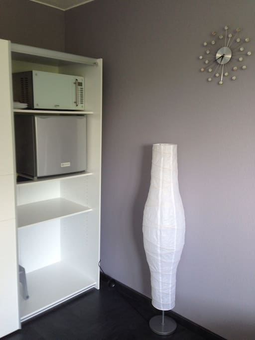 Microwave and Fridge (extra silent) in the wardrobe