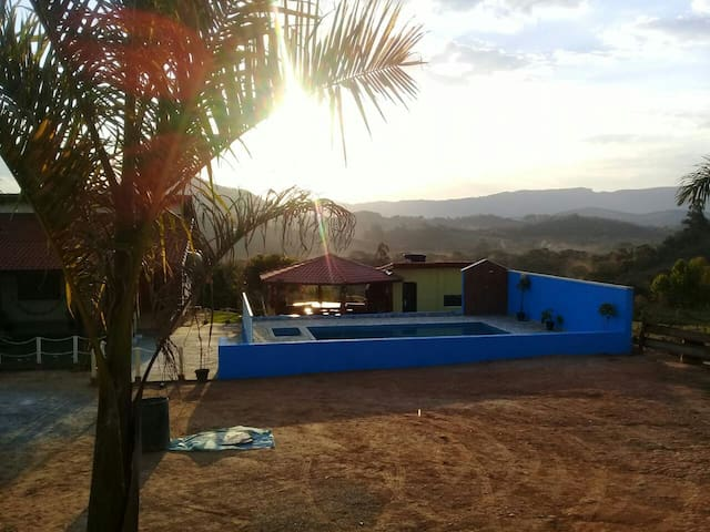 Camp house Bom Sucesso 4 ensuites 1km of City