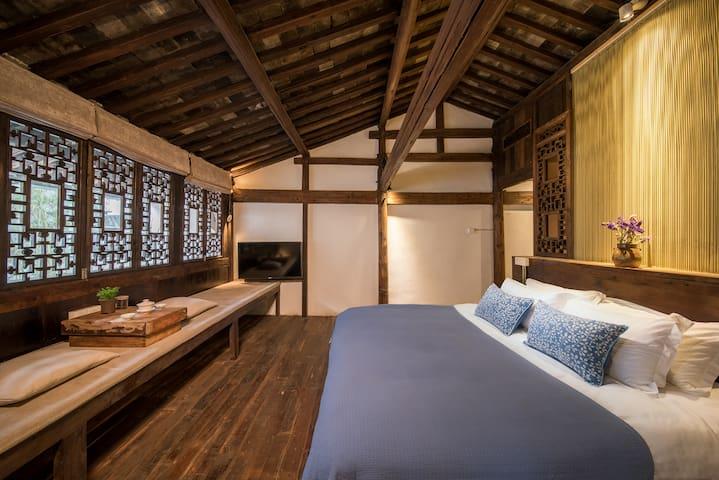 古早叙-天井大床房 - Huangshan - House
