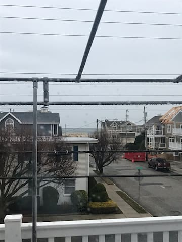 Beach view on second story deck