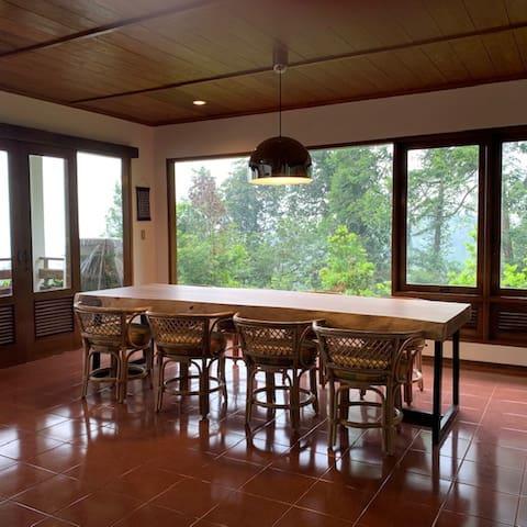 Top view MegaIndah Villa at Megamendung