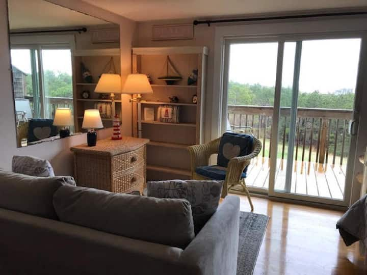 Unit #6 - Efficiency Studio, Private Deck with distant Water View