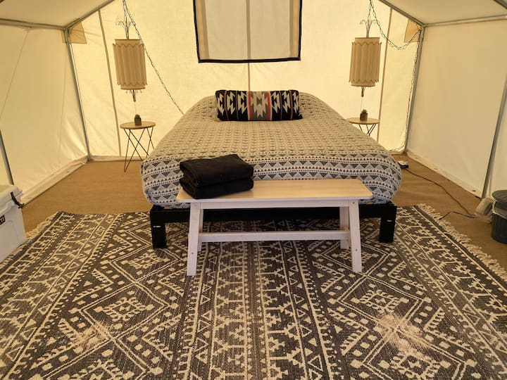 Twilight Tent at Lazy Sky-sleeps 2