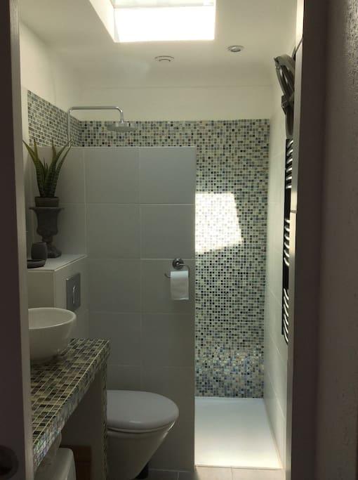 sun light in the shower