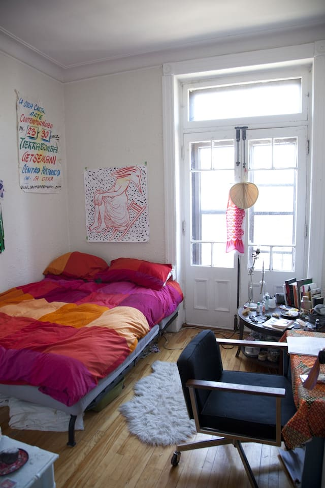 Chambre lumineuse et confordable