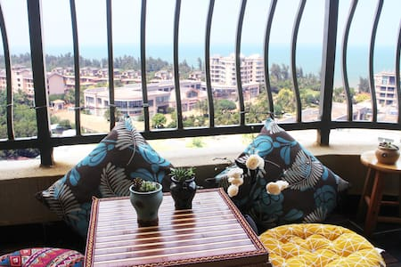 海南碧桂园金沙滩海天云舍270度海景双卧套房