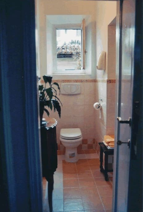 White room (camera bianca), shared bathroom