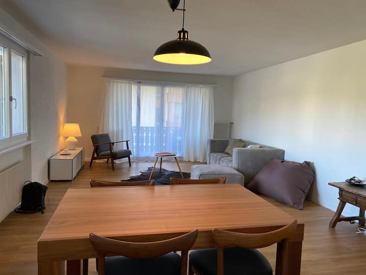 Large 75m2 family flat in Laax Dorf