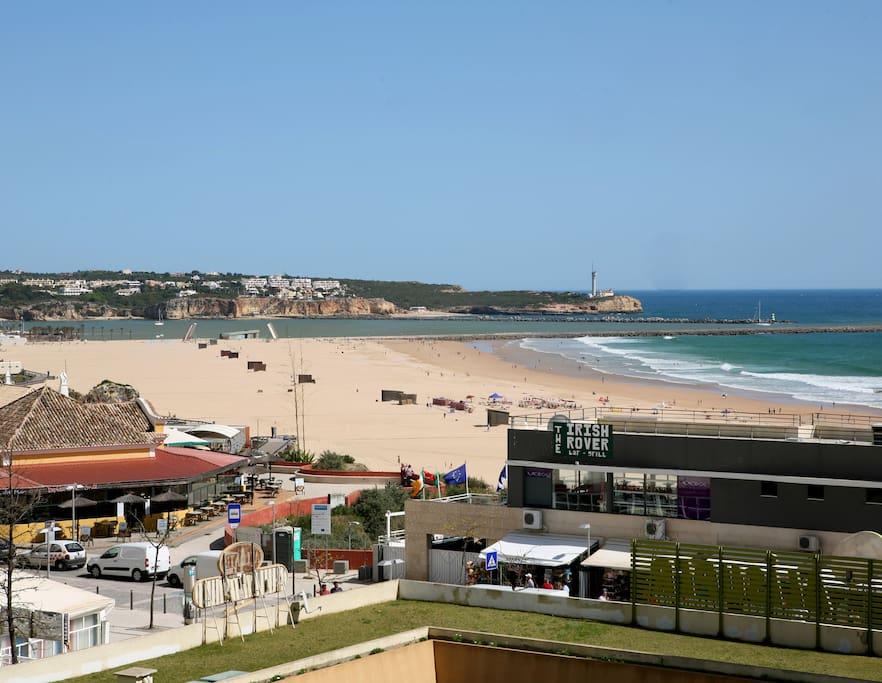 view to Praia da Rocha, from balcony