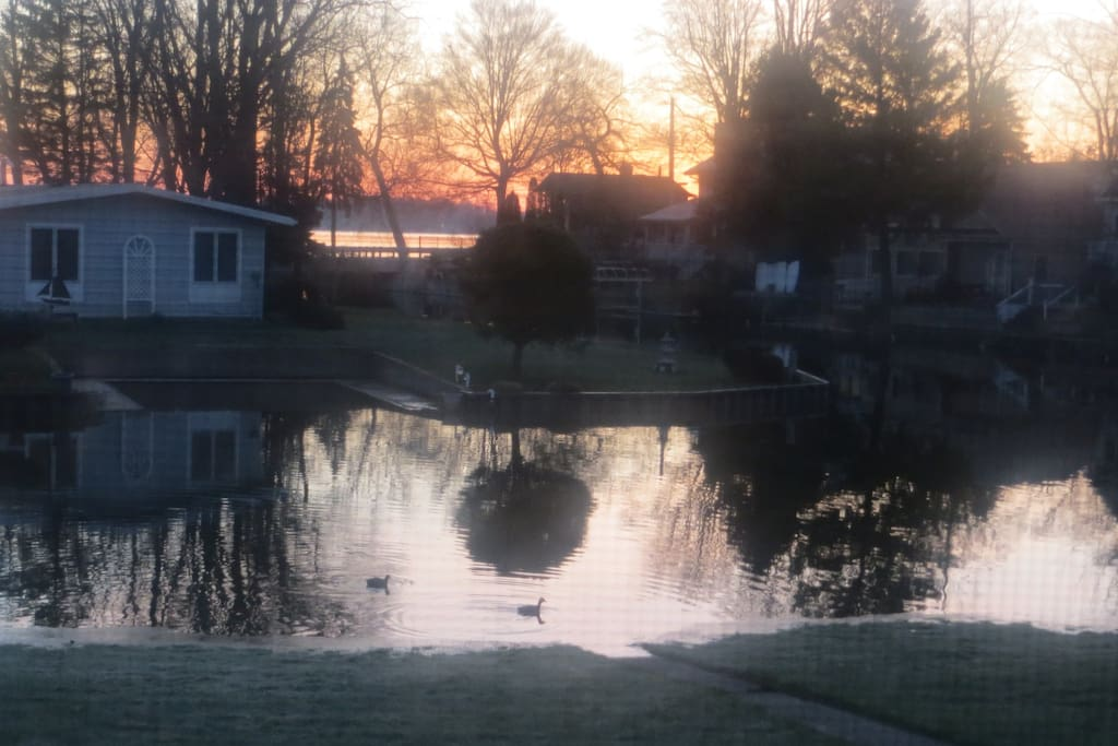 Sunrise view of the water from the bedroom