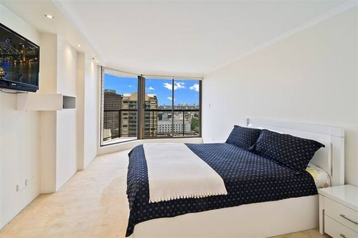 Spacious master bed. with own bathroom, great view
