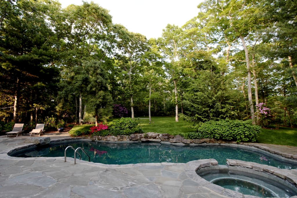The pool from the house