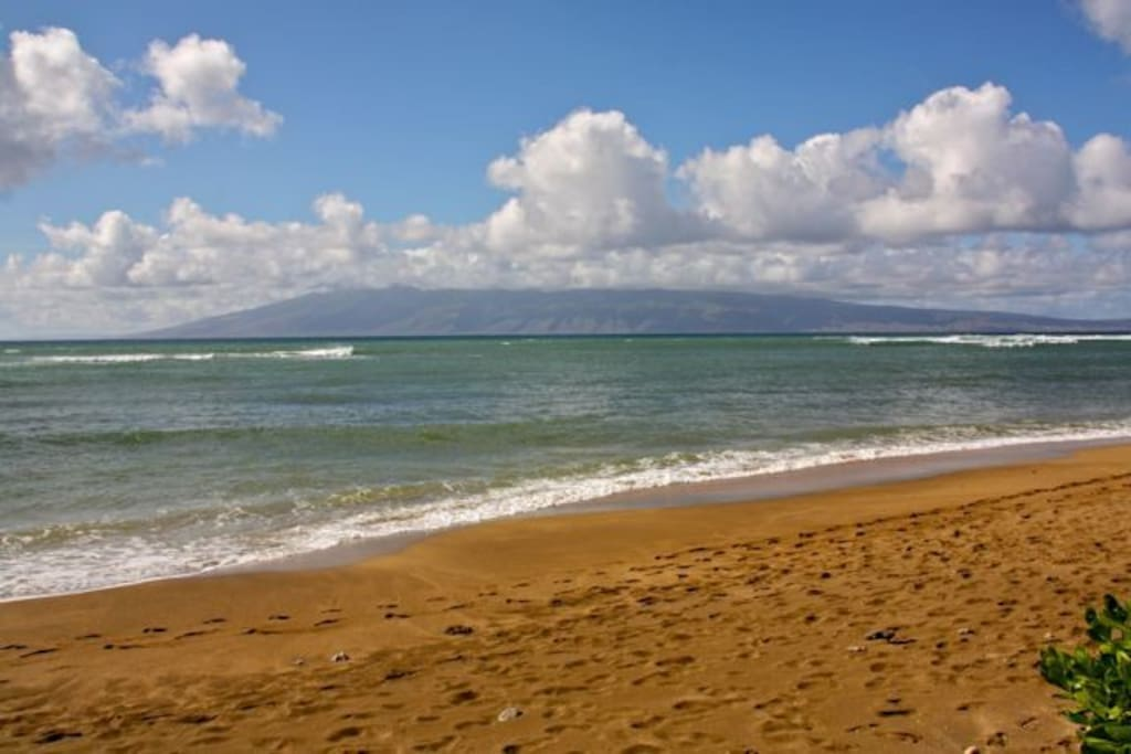 Sandy beach at Kahana Beach fronting Outrigger Royal Kahana Resort. Subject to seasons and tides.