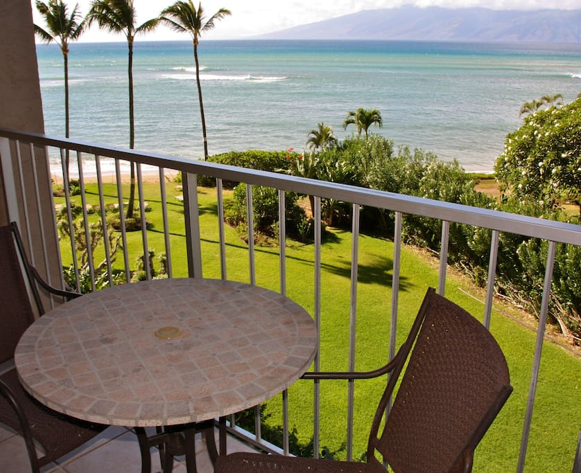 Whale watch during whale watching season from your private lanai overlooking the Island of Molokai!