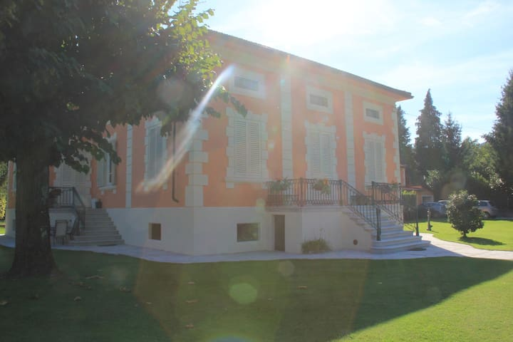 The villa side view