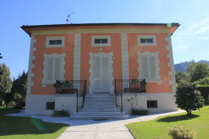 The villa front view