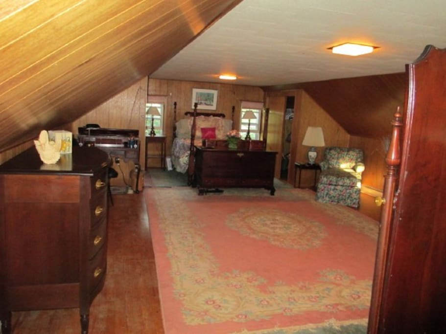 View of attic suite - toilet/ sink in left corner - only available when no long-term renter