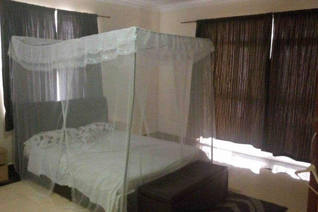 One of Two Large Bedrooms