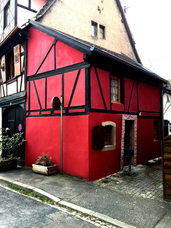 Typical Small House in the Obernai city center
