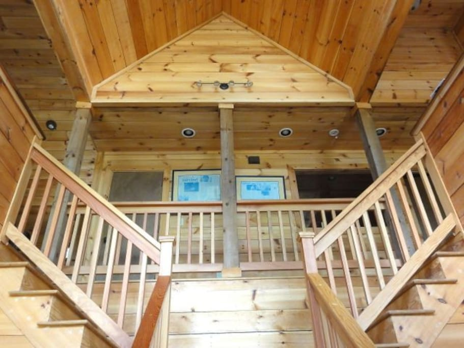 Inside the main lodge.