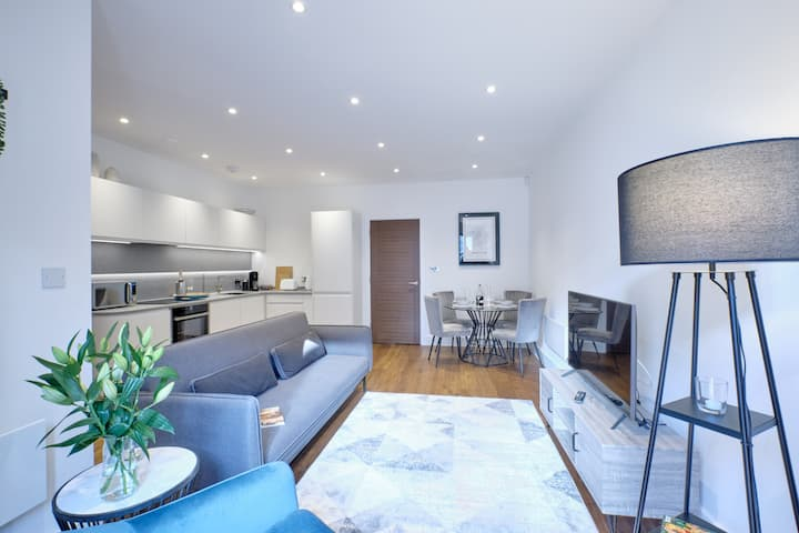 Beautiful contemporary new-build town centre apt