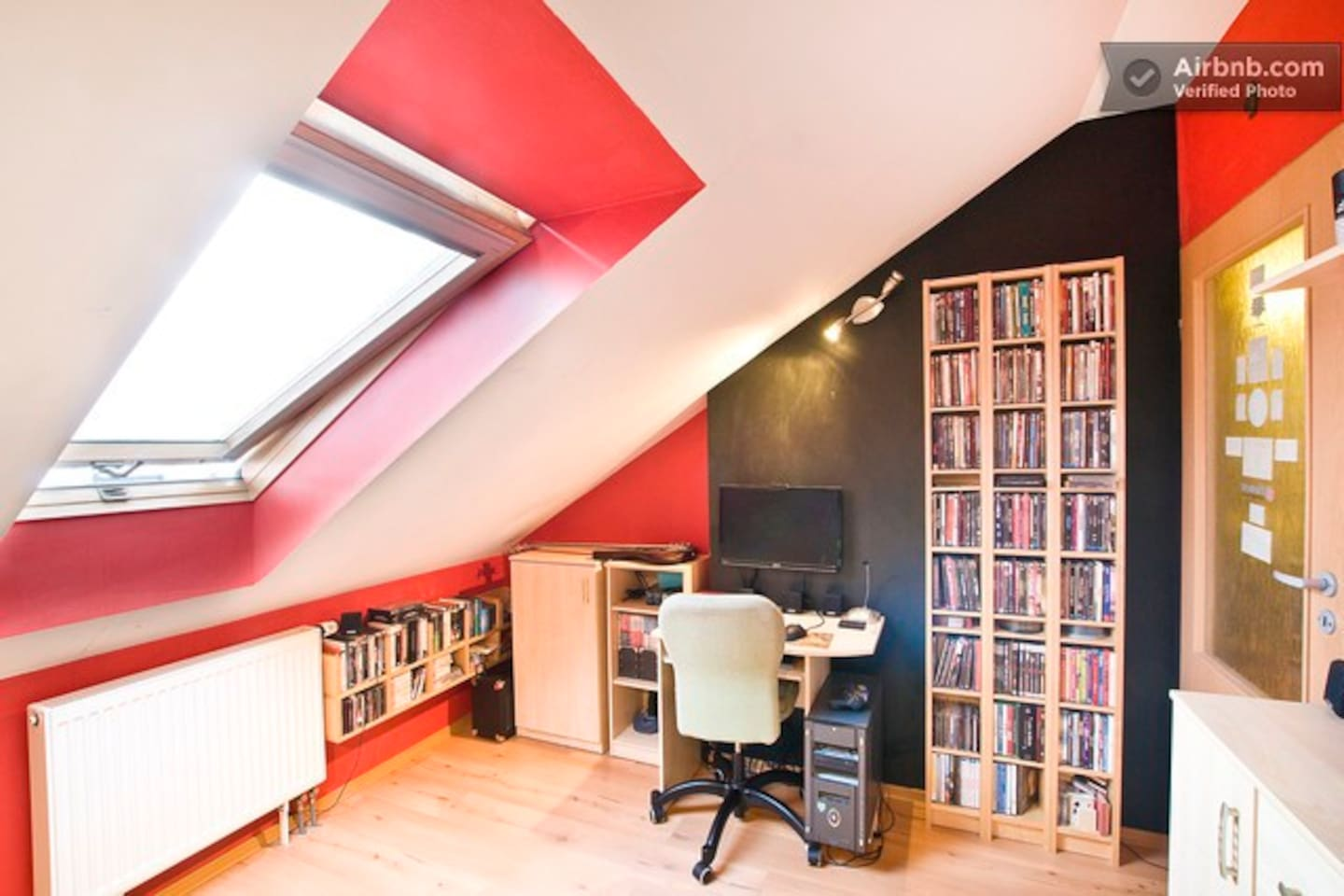 This is a room for rent - with computer and fast Wi-Fi internet