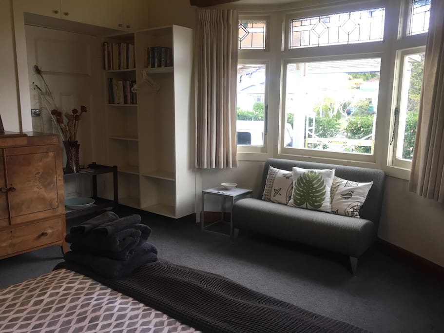 Bedroom and seating area