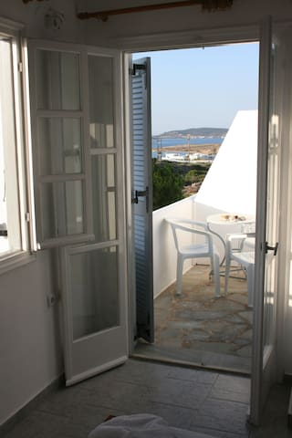 Double/Triple Studio with Sea View - Naousa - Flat