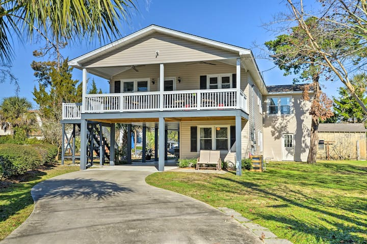NEW! Waterfront 4BR Surfside Beach Home w/ Porch!