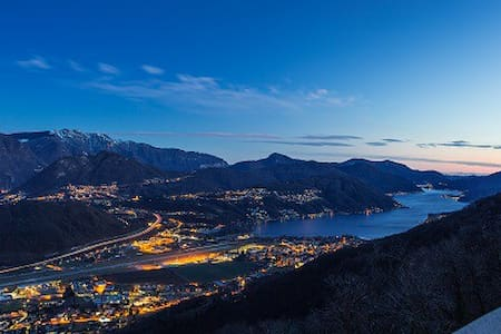 Overview of Lugano Lake & mountains - Cademario