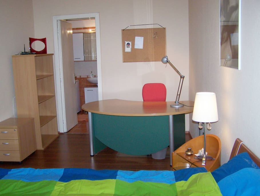 There is an office desk in the bedroom so if you are on a business trip, this is an ideal choice to mix work with leisure.