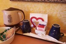 Per un buon caffe' caldo o un piacevole the'