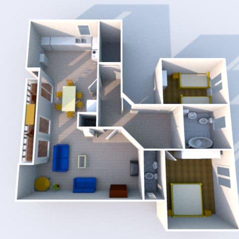 Großzügige 3-Zimmer-Wohnung - Rheinhausen - Byt