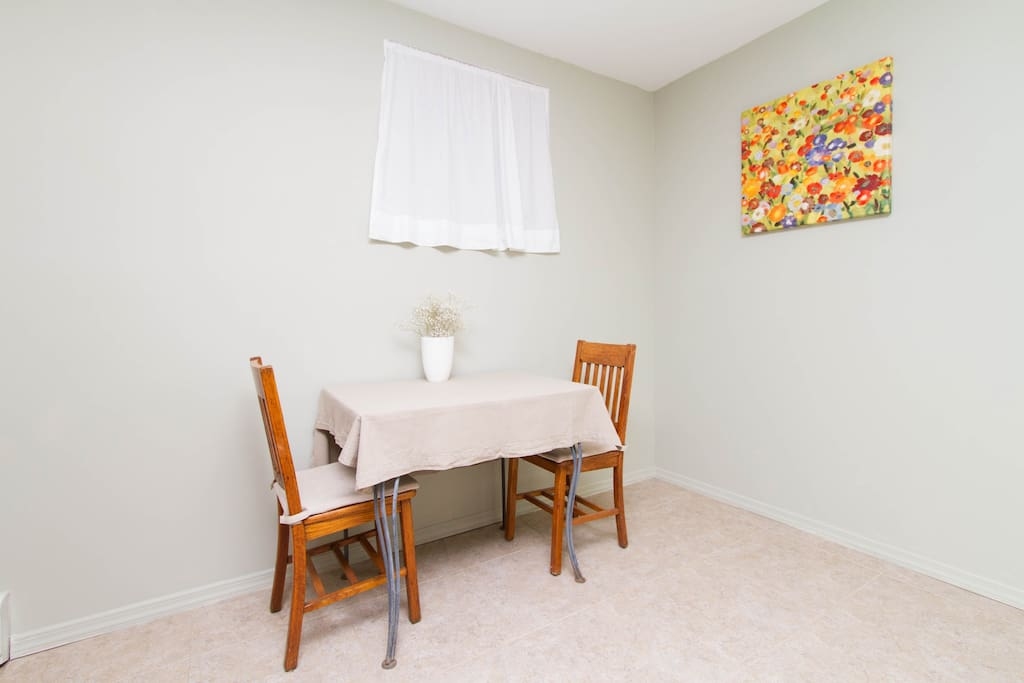 Indoor dining space