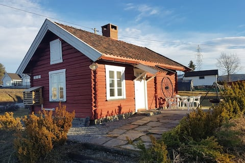 Tømmerhus nær Vikersund