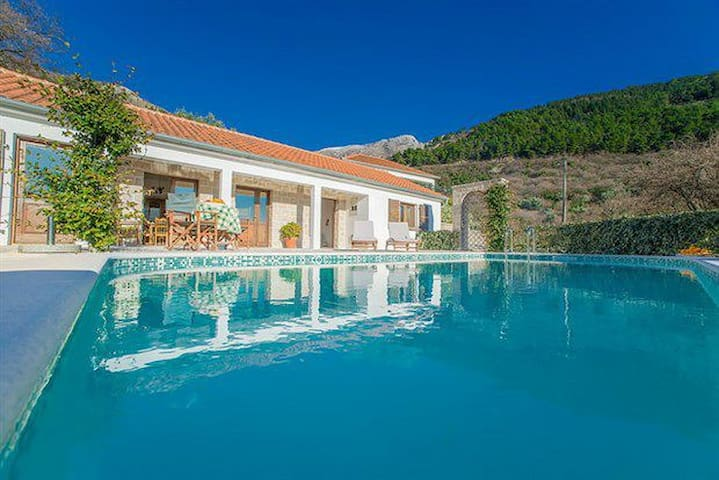 Villa Ava Kotor with a pool and a beautiful garden