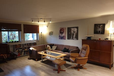 Apartment in first floor in a house , with garden.