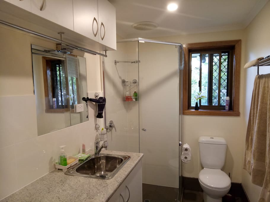 Recently completed brand new guest bathroom, with laundry facility.